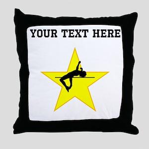 High Jump Silhouette Star (Custom) Throw Pillow
