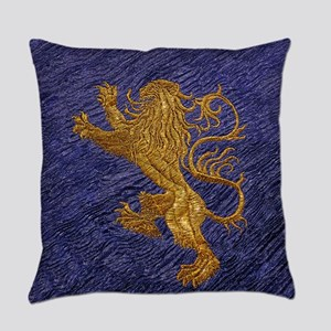 Rampant Lion - gold on blue Master Pillow