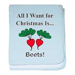 Christmas Beets baby blanket
