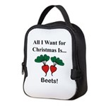 Christmas Beets Neoprene Lunch Bag
