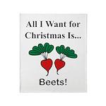 Christmas Beets Throw Blanket