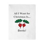 Christmas Beets Twin Duvet
