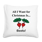 Christmas Beets Square Canvas Pillow