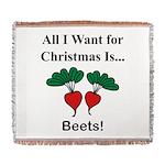 Christmas Beets Woven Blanket