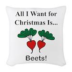 Christmas Beets Woven Throw Pillow