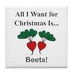 Christmas Beets Tile Coaster