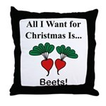 Christmas Beets Throw Pillow