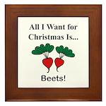 Christmas Beets Framed Tile