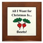 Christmas Beets Framed Tile