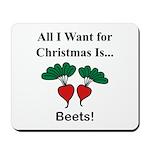 Christmas Beets Mousepad