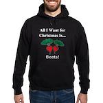 Christmas Beets Hoodie (dark)