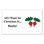 Christmas Beets Sticker (Rectangle 10 pk)