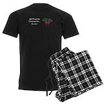 Christmas Beets Men's Dark Pajamas
