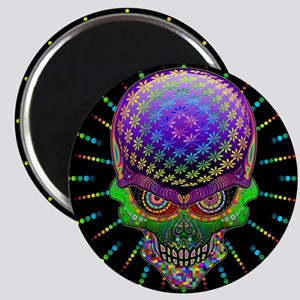 Crazy Skull Psychedelic Explosion Magnets