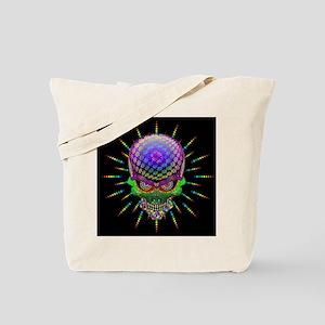 Crazy Skull Psychedelic Explosion Tote Bag