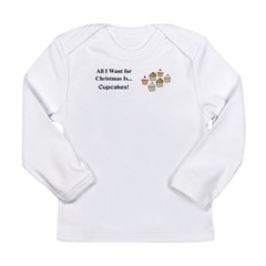 Christmas Cupcakes Long Sleeve Infant T-Shirt