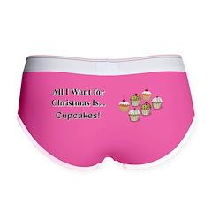 Christmas Cupcakes Women's Boy Brief