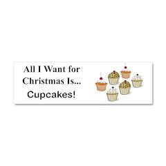 Christmas Cupcakes Car Magnet 10 x 3