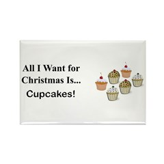 Christmas Cupcakes Rectangle Magnet