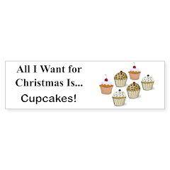 Christmas Cupcakes Sticker (Bumper 10 pk)
