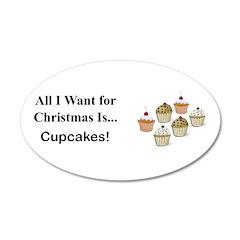 Christmas Cupcakes Wall Decal
