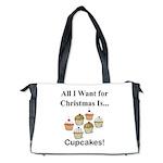 Christmas Cupcakes Diaper Bag