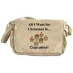 Christmas Cupcakes Messenger Bag