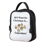 Christmas Cupcakes Neoprene Lunch Bag