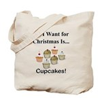 Christmas Cupcakes Tote Bag