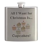 Christmas Cupcakes Flask