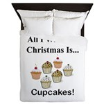 Christmas Cupcakes Queen Duvet