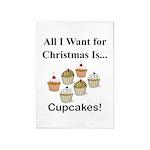 Christmas Cupcakes 5'x7'Area Rug