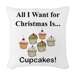 Christmas Cupcakes Woven Throw Pillow