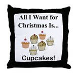 Christmas Cupcakes Throw Pillow