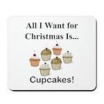 Christmas Cupcakes Mousepad