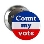 Bulk Rate 100 Pack Count My Vote Buttons
