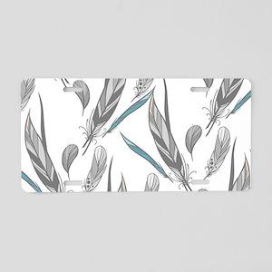 Beautiful Feathers Aluminum License Plate