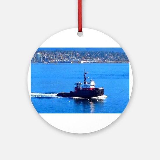Vancouver Harbor Ride Round Ornament