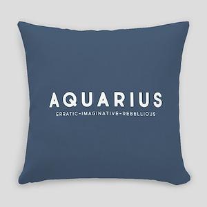Aquarius Erratic Imaginative Rebel Everyday Pillow