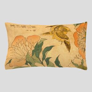 Peony and Canary by Hokusai Katsushika Pillow Case