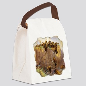Buffalo Jump Canvas Lunch Bag