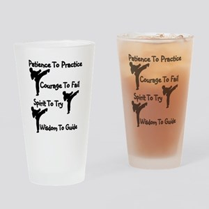 Karate Student Drinking Glass