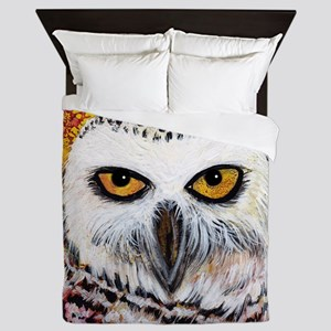 Snowy Owl by GG Burns Queen Duvet