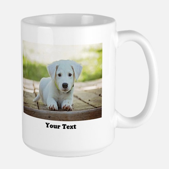Personalize 2 photos 2 texts Mugs
