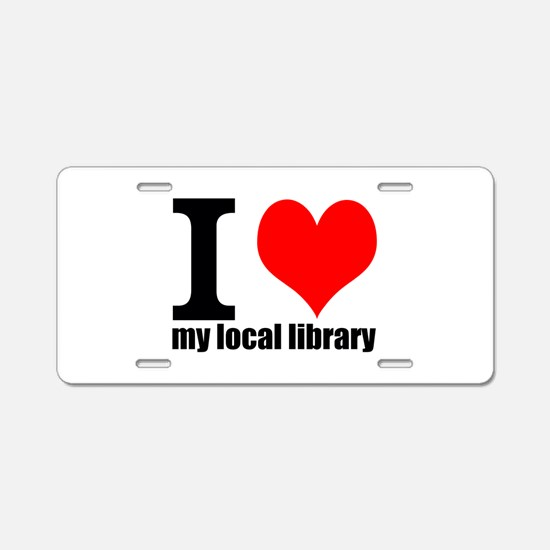 Library Love Aluminum License Plate