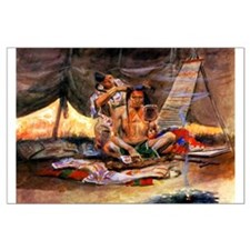 Native American Couple Large Poster