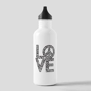 Love Peace Zebra Stainless Water Bottle 1.0L