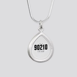 It's a 90210 Thing Silver Teardrop Necklace