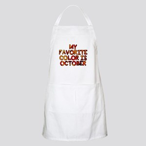 My favorite color is October Apron