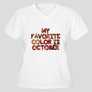 My favorite color Women's Plus Size V-Neck T-Shirt